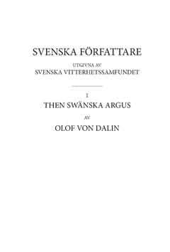 Then Swänska Argus. D 2 av Olof von Dalin